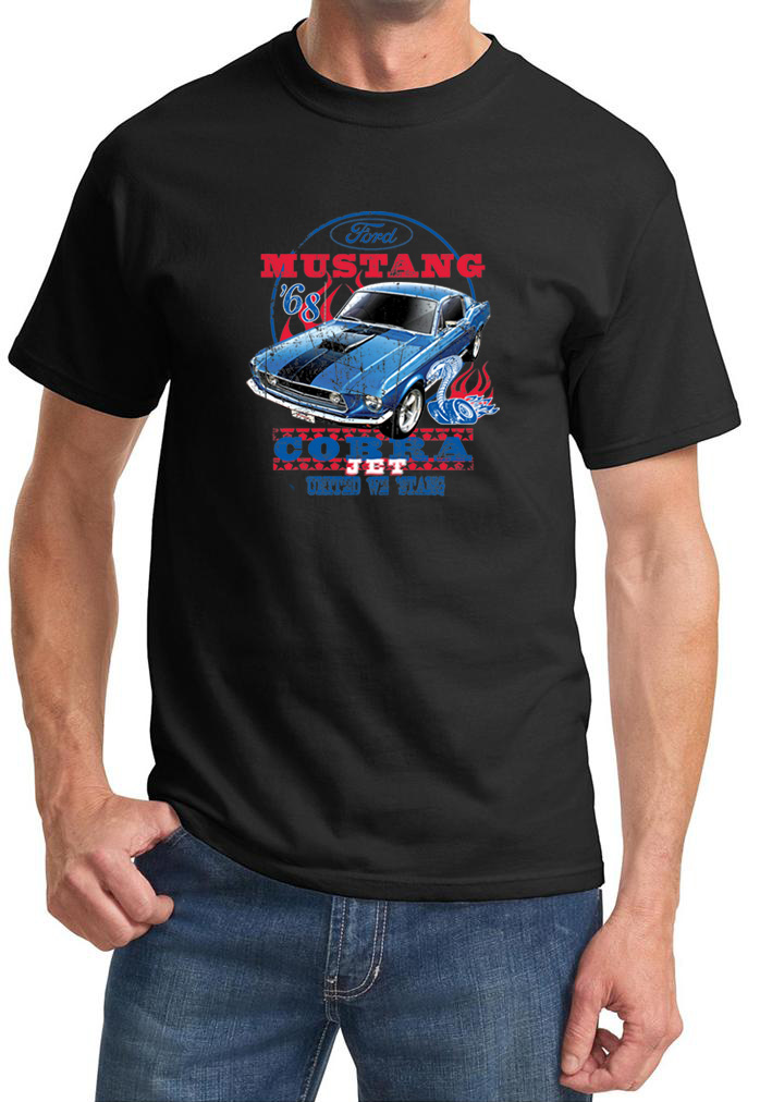 ford mustang shirt 68 cobra jet tee t shirt ford mustang shirt 68 cobra jet. Black Bedroom Furniture Sets. Home Design Ideas