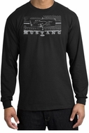 Ford Mustang Shirt Legend Honeycomb Grille Long Sleeve Tee Black