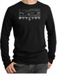 Ford Mustang Shirt Legend Honeycomb Grille Thermal Shirt Black