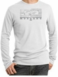 Ford Mustang Shirt Legend Honeycomb Grille Thermal Shirt White