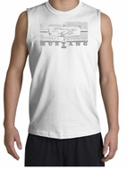 Ford Mustang Shirt Legend Honeycomb Grille White Muscle Shirt