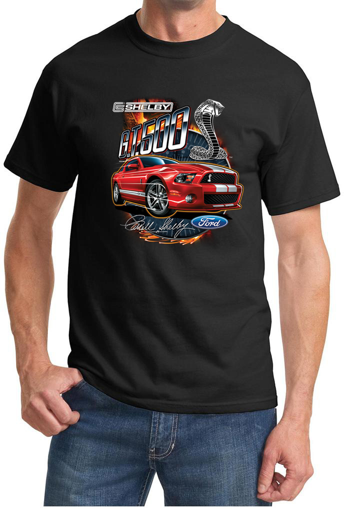 ford mustang shirt red shelby gt 500 tee t shirt ford. Black Bedroom Furniture Sets. Home Design Ideas