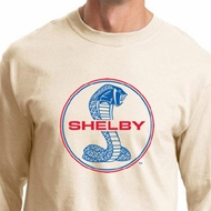 Ford Mustang Shirt Shelby Cobra Blue and Red Logo Long Sleeve Shirt