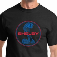 Ford Mustang Shirt Shelby Cobra Blue and Red Logo Tee T-shirt