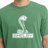 Ford Mustang Shirt Shelby Cobra Mens Pigment Dyed Tee T-Shirt