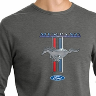 Ford Mustang Shirt Stripe Mens Long Sleeve Thermal Tee T-Shirt