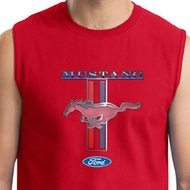 Ford Mustang Shirt Stripe Mens Muscle Tee T-Shirt