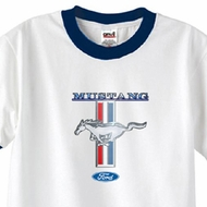 Ford Mustang Shirt Stripe Mens Ringer Tee T-Shirt