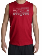 Ford Mustang Shooter - Legend Honeycomb Grille Adult Red Muscle Shirt
