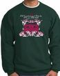 Ford Mustang Sweatshirt - Girls Run Wild Adult Dark Green Sweat Shirt
