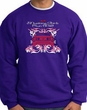 Ford Mustang Sweatshirt - Girls Run Wild Adult Purple Sweat Shirt
