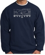 Ford Mustang Sweatshirt Legend Honeycomb Grille Navy Sweat Shirt