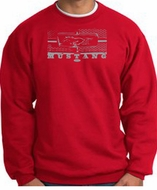 Ford Mustang Sweatshirt Legend Honeycomb Grille Red Sweat Shirt