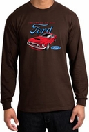 Ford Mustang T-Shirt Chairman Of The Ford Long Sleeve Shirt Brown