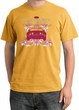 Ford Mustang T-Shirt Girls Run Wild Pigment Dyed Tee Mustard