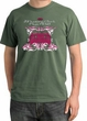 Ford Mustang T-Shirt Girls Run Wild Pigment Dyed Tee Olive