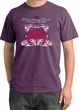 Ford Mustang T-Shirt Girls Run Wild Pigment Dyed Tee Plum