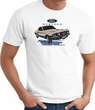 Ford Mustang T-shirt - Horsepower Adult White Tee Shirt
