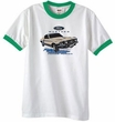 Ford Mustang T-Shirt Horsepower Ringer Tee White/Kelly Green