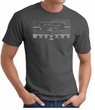 Ford Mustang T-Shirt - Legend Honeycomb Grille Adult Charcoal Tee