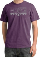 Ford Mustang T-Shirt Legend Honeycomb Grille Pigment Dyed Tee Plum