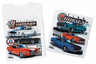 Ford Mustang T-Shirt - Racebred Classic Car Adult White Tee Shirt