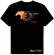 Ford Mustang T-Shirt - Running Mustang Adult Black Tee Shirt