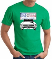 Ford Mustang T-Shirt - USA 1964 Country Adult Kelly Green Tee Shirt