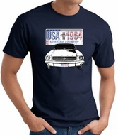 Ford Mustang T-Shirt - USA 1964 Country Adult Navy Tee Shirt
