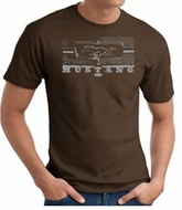 Ford Mustang T-shirts Legend Honeycomb Grille Adult Shirts