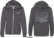 Ford Mustang with Grill (Front & Back) Ladies Full Zip Hoodie