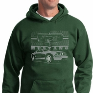 Ford Mustang with Grill Hoodie
