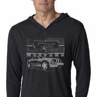 Ford Mustang with Grill Lightweight Hoodie Shirt