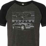 Ford Mustang with Grill Mens Tri Blend Shirt