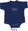 Ford Mustang with Grill Middle Print Baby Onesie