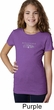 Ford Mustang with Grill Middle Print Girls Purple Shirt