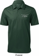 Ford Mustang with Grill Pocket Print Mens Textured Polo Shirt