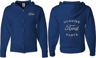 Ford New Genuine Ford Parts (Front & Back) Full Zip Hoodie