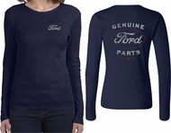 Ford New Genuine Ford Parts (Front & Back) Ladies Long Sleeve