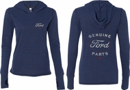 Ford New Genuine Ford Parts (Front & Back) Ladies Tri Blend Hoodie