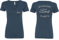 Ford New Genuine Ford Parts (Front & Back) Ladies V-neck