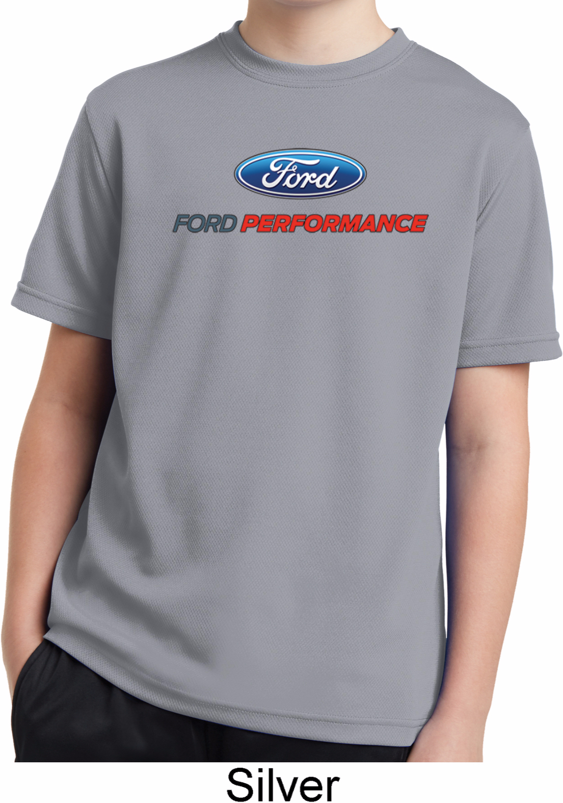 Ford Performance Parts Kids Moisture Wicking Shirt Ford