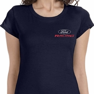 Ford Racing Ladies Pocket Print Shirts