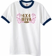 Ford Ringer Shirt 4X4 DIVA Offroad White/Navy Shirt