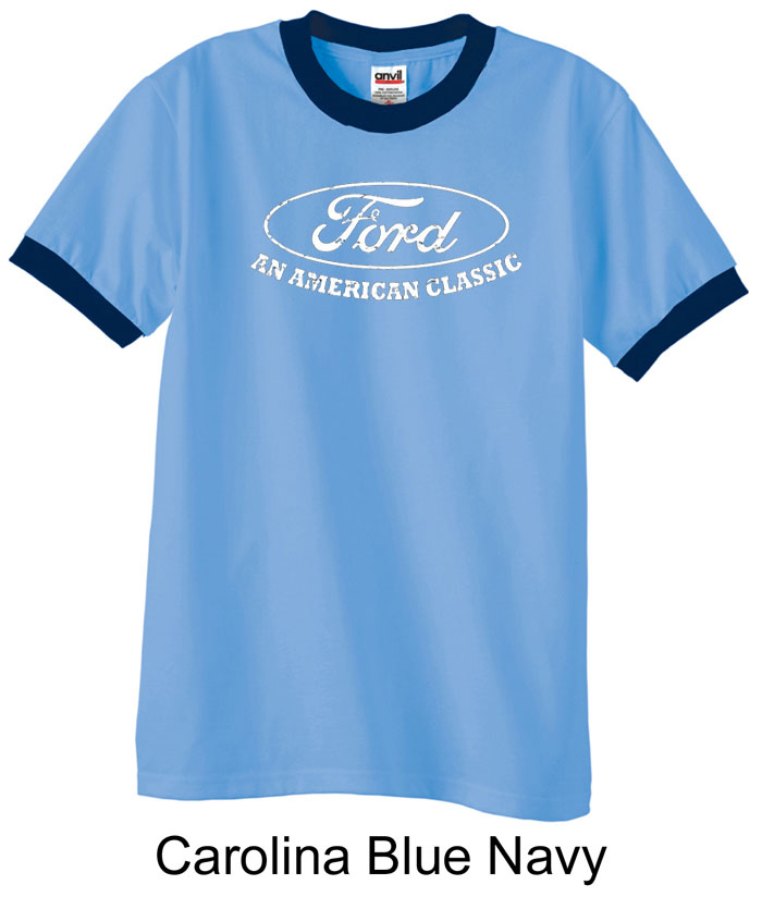 Ford shirt distressed an american classic adult ringer for All american classic shirt