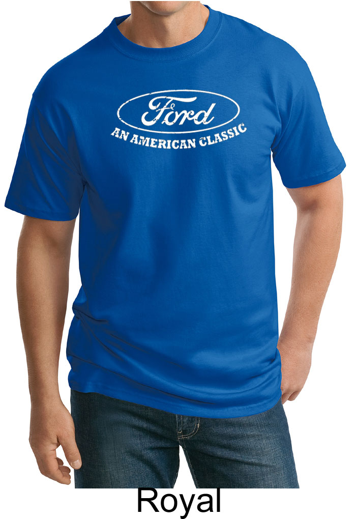 Ford shirt distressed an american classic adult tall tee for All american classic shirt