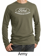 Ford Shirt Distressed An American Classic Adult Thermal Shirt