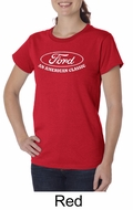 Ford Shirt Distressed An American Classic Ladies Organic T-shirt