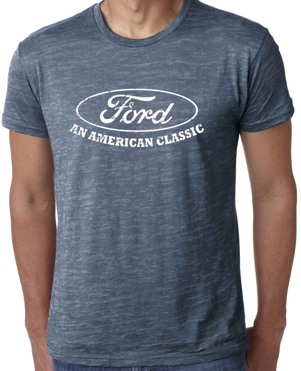 Ford shirt distressed an american classic mens burnout tee for All american classic shirt