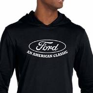 Ford Shirt Distressed An American Classic Mens Lightweight Hoodie Tee